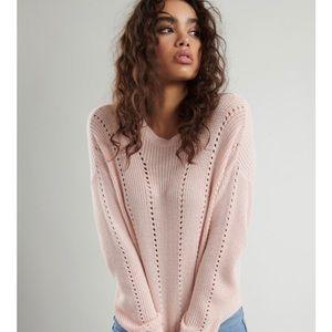 Supersoft Pointelle Sweater GARAGE blush pink